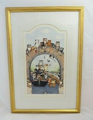 """Framed Print of """"Canal Capers"""" by Linda Jane Smith (Signed), Ltd Ed. 128/750"""