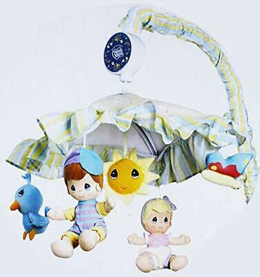 NEW PRECIOUS MOMENTS Baby MUSICAL MOBILE Nursery Crib plush Stuffed Dolls GIFT