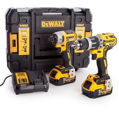 Dewalt DCK266P2T 18V Brushless Twin Pack With 2 x 5Ah Batteries, Charger & Case
