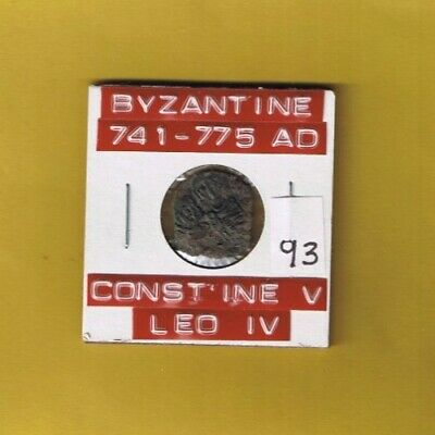 "Ancient Byzantine Empire of ""Constantine V & Leo IV"" 741-775 AD.... AE follis"
