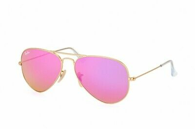 Ray-Ban Aviator Pink Lens Mirrored Metal Frame Sunglasses RB3025 112/4T