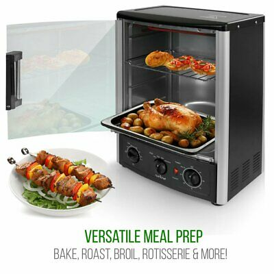Counter Top Rotating Oven Bake Machine Kebob Rack Rotisserie Grill Broil Kitchen
