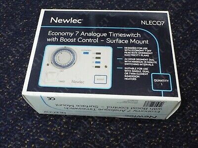 Newlec NLECO7 Analogue Economy 7 Immersion/Water Heater Timeswitch with Boost