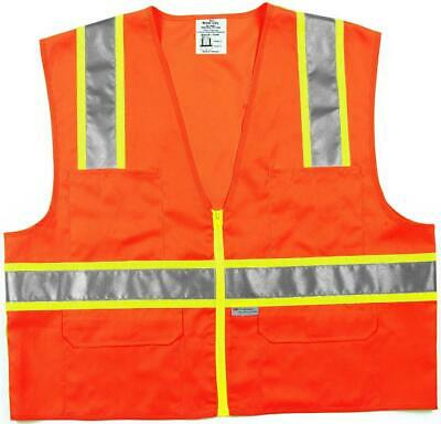 Safety Works CSURVOXL Class II Surveyor Safety Vest Case of 6