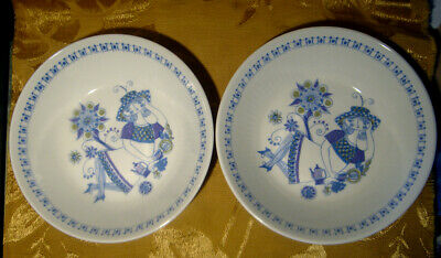 Figgjo Norway Lotte Turi Lot Of 2 Coupe Cereal Bowls 6 3/4""