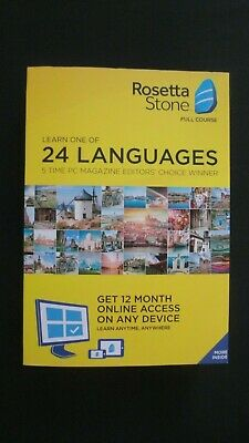 GENUINE Rosetta Stone Full Course Learn One Of 24 Languages Plus 12 Month Access