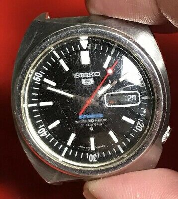 Seiko 5 Sports  70 Ref 6119-6020 Cal 6119B Used  For Parts Or Repair