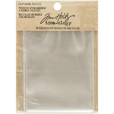 Tim Holtz Idea-Ology - Assemblage Flip Frame Accessory - Pockets - 15 Pieces