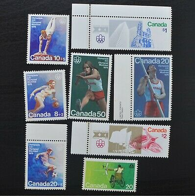 Postage Lot 8 Stamps Canada 1976 Montreal Olympic Games Toronto Paralympics S3