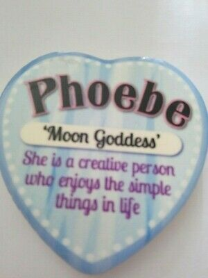 Love Heart Fridge Magnet Personalised Name Sentiment Gift Phoebe Meaning Friends