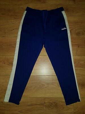 3f1384a6 DIADORA 80S CROPPED Track Pants in Black & White - Elite tracksuit ...