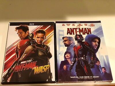 Antman And The Wasp + Atman (DVD, 2018) New! Marvel Avengers Movie Free Shipping