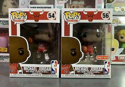 Funko POP! Vinyl Basketball #54 & #56 Michael Jordan & Slam Dunk Target Ex Set