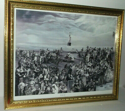 Statue of Liberty Collage Poster Broadway Vintage Pinup   LADIES FIGHT 4 FREEDOM