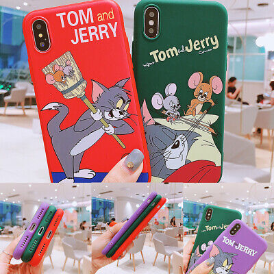 Tom And Jerry Pattern Shockproof Ultrathin Nonslip TPU Phone Case For iPhone Lot