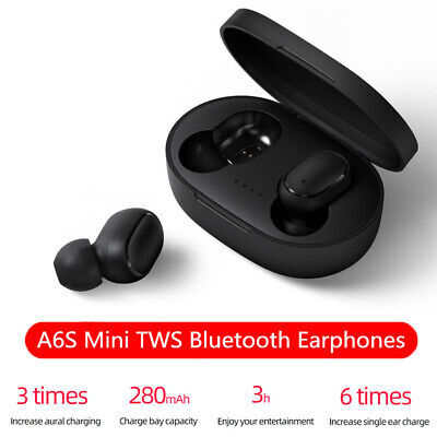 Noise reduction Bass TWS Earphone Bluetooth 5.0 Wireless Earbuds A6S Mi Airdots