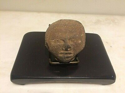 Pre-Columbian Mayan  Ancient Artifact - Head Fragment Piece
