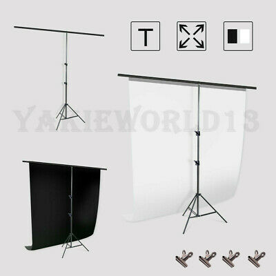 Studio T-Type Backdrop Stand Heavy Duty Video Photography Background Support KIT