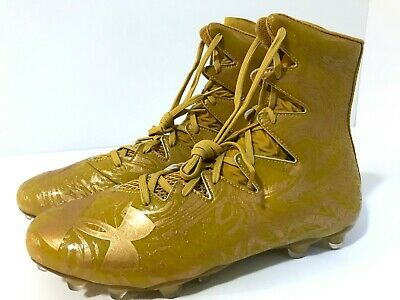 Under Armour Size: 12.5 Highlight Lux MC Gold Rush Football Cleats (1297953 795)