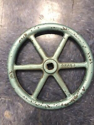 "14"" Vintage Cast Iron Spoked STEAM VALVE WHEEL HANDLE STEAMPUNK,  Industrial"