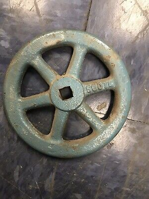 "5"" Vintage Cast Iron Spoked STEAM VALVE WHEEL HANDLE STEAMPUNK,  Industrial"