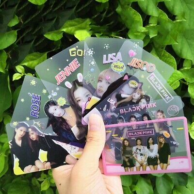 8PCS Kpop BLACKPINK Transparent Photo Cards LISA JISOO JENNIE ROSE Mini Cards