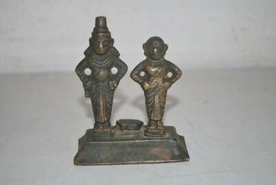 Antique Indian God Goddess Brass Made Beautiful Statue Collectible