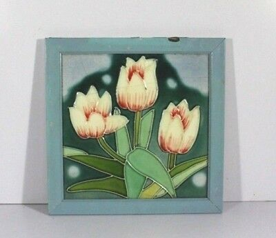 Vintage Old Hand Made Collectible Antique Rose Flowers Designs Ceramic Tiles