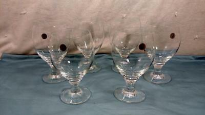 Set of 6 Zwiesel Glass Germany Clear Crystal Brandy Snifter Wine Water Goblets