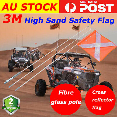 3M High Sand Safety Flag 4WD Towing Offroad Touring 4x4 Simpson Desert AU