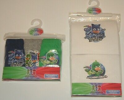 Pack of 2 Boys PJ Masks Cotton Vests 18 months 5 years Various Designs