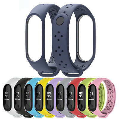 Breathable Replace Soft Silicone Wristband Watch Strap for Xiaomi Mi Band 3/4