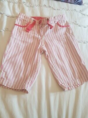 Girls Mini Boden Striped Shorts Pink Aged 4 Years