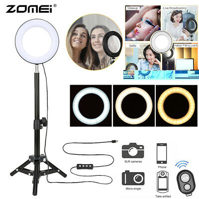 "6"" LED Ringleuchte Ringlicht Dimmbar Studiolicht für Live-Stream YouTube Make-up"