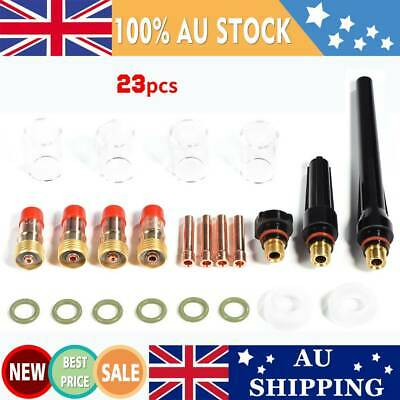 23x TIG Welding Torch Stubby Welder Gas Lens Parts Kit For Tig WP-17/WP-18/WP-26