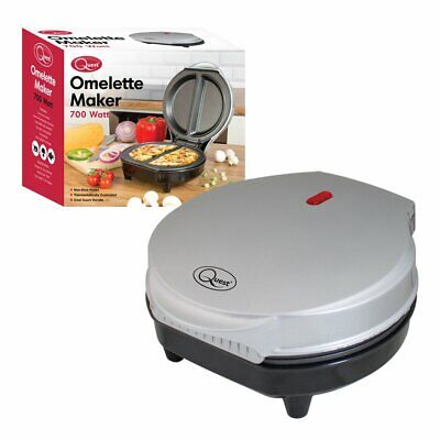 Quest 35640 Dual Omelette Maker Electric-Easy Clean Non-Stick Cooking Plate