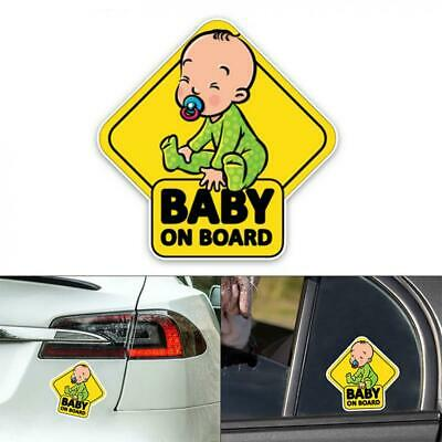 Baby On Board Baby Child Window Bumper Car Sign Decal Sticker 14.7 x 14.7CM