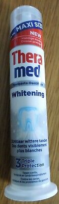 Dentifrice THERAMED Whitening TRIPLE Protection * 100 ml tube debout * 100% NEUF