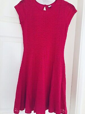 New girls pink lace effect dress from TU age 11 years BNWOT new without tags