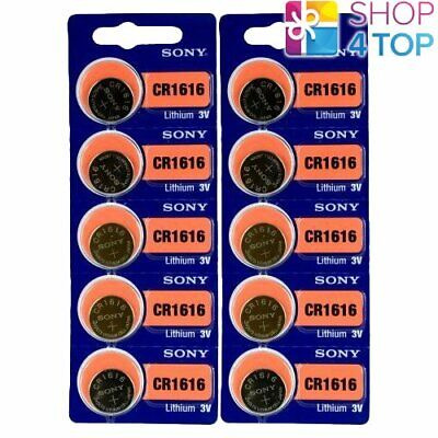 10 SONY CR1616 LITHIUM BATTERIES 3V 60 mAh CELL COIN BUTTON EXP 2028 NEW