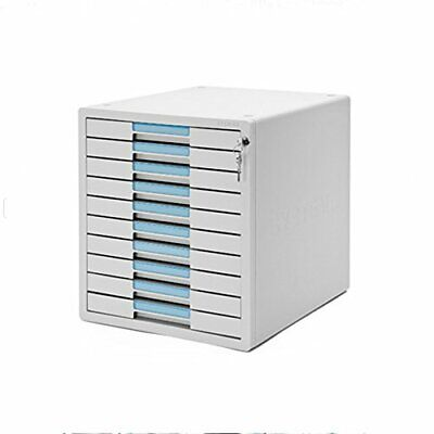 System-2 Key File Cabinet 10 Drawers Office Home Desk Supplies Lock Function