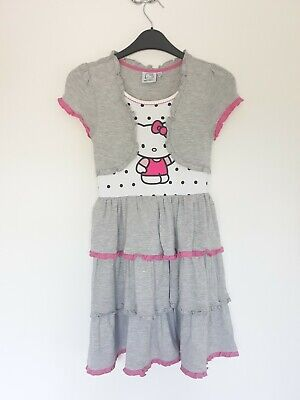 Lovely Hello Kitty Dress Age 9-10 In Vgc!