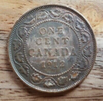 1912 Canada George V -1 Large Circulated Copper Cent