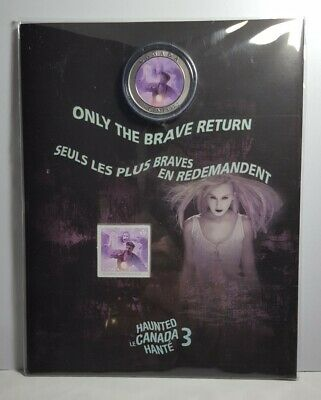 2016 Canada Haunted Ghost Bell Island 25-cent Coin & Stamp Gift Set #3