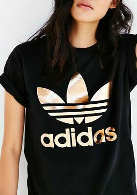 adidas trefoil tee rose gold