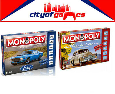 Holden Heritage & Ford Monopoly Board Game Bundle  Brand New In Stock