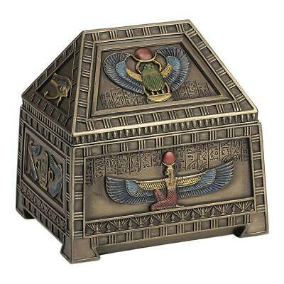 Egyptian Heart Scarab And Isis Trinket Box - Egyptian