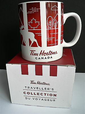 "NEW in Gift Box TIM HORTONS ""CANADA"" Travellers Collection Mug 2016 Du Voyageur"