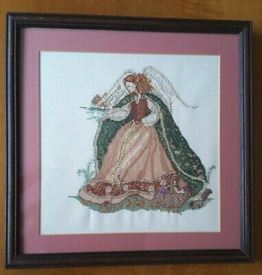 Woodland Angel Cross Stitch Completed Framed Picture Stunning Gift