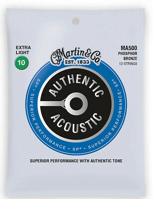 Martin Authentic Acoustic Phosphor Bronze 12 String Extra Light Guitar Strings
